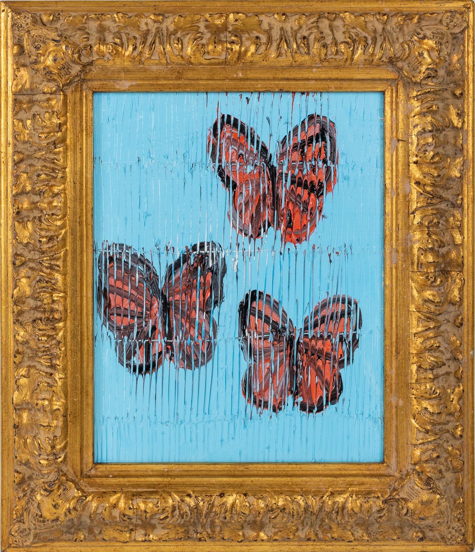 "Hunt Slonem ""3 Viceroy's"" Red Monarch Butterflies"