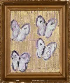 "Hunt Slonem ""4 Fly"" Pink Butterflies"