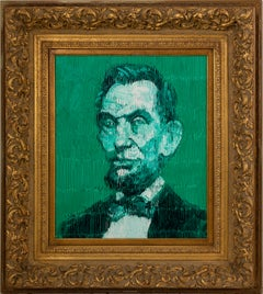 "Hunt Slonem ""Abe Lincoln"" Green Abraham Lincoln"