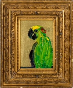 "Hunt Slonem ""Amazon"" Green Parrot"