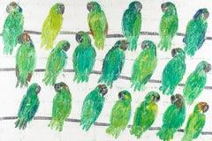 """Hunt Slonem """"Amazons"""" Parrots"""