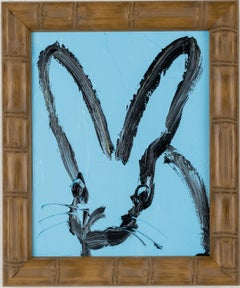 "Hunt Slonem ""Bamboo"" Blue Bunny"