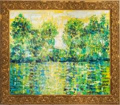 "Hunt Slonem ""Bayou La Touche"" Louisiana Bayou Landscape"