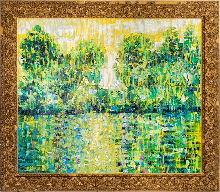 "Hunt Slonem ""Bayou La Touche"" Louisiana Bayou Landscape - Painting by Hunt Slonem"
