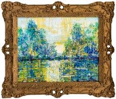 "Hunt Slonem ""Bayou Teche"" Landscape"