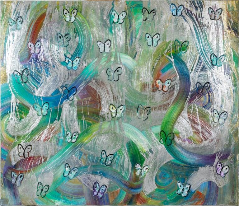 "Hunt Slonem ""Belle Terre"" Totem Series Butterflies - Painting by Hunt Slonem"