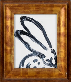 "Hunt Slonem Black & White ""Untitled"" Bunny"