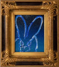 "Hunt Slonem ""Blue Diamond"" Blue Ombre Diamond Dust Bunny"