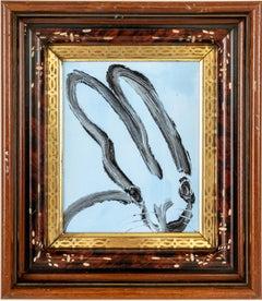 """Hunt Slonem """"Blue"""" Sky Blue Bunny"""