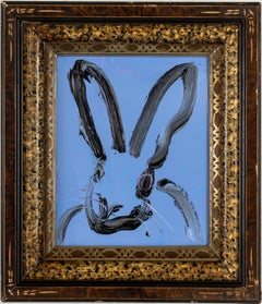"Hunt Slonem ""Blues"" Blue Bunny"