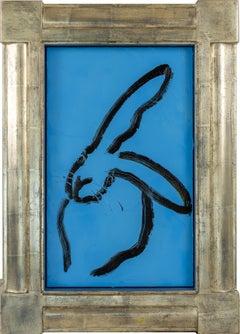 "Hunt Slonem ""Bunny Blues"" Blue Bunny"