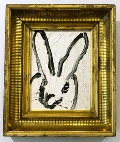 Hunt Slonem bunny oil painting 'White Rabbit'
