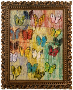 """Hunt Slonem """"Butterflies Field Day"""" Multicolored Butterflies"""