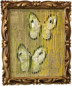 Hunt Slonem butterflies painting 'Duet'