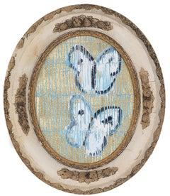Hunt Slonem butterflies painting 'Sulphurs'