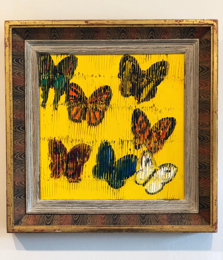 Hunt Slonem butterflies painting 'Viceroy' - Contemporary Painting by Hunt Slonem