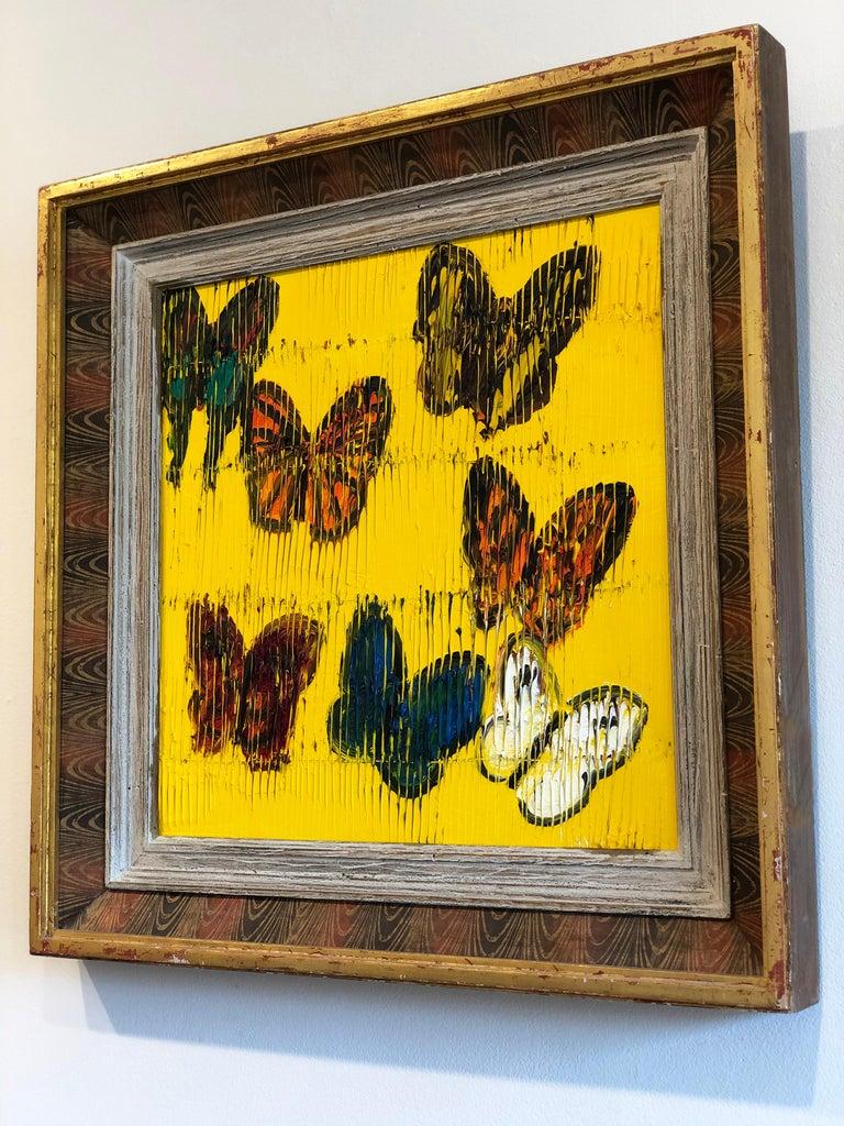 Hunt Slonem butterflies painting 'Viceroy' - Brown Animal Painting by Hunt Slonem