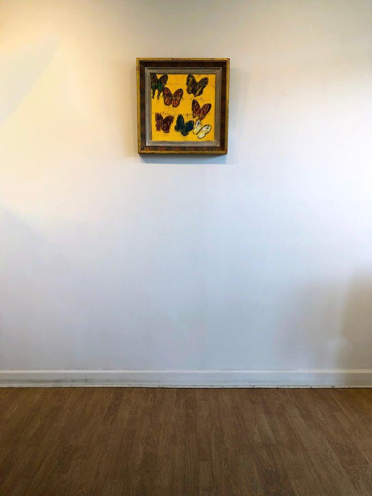 Hunt Slonem butterflies painting 'Viceroy' For Sale 1