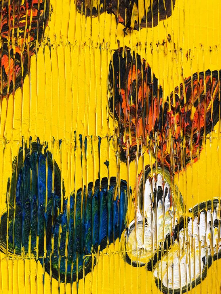 Hunt Slonem butterflies painting 'Viceroy' For Sale 2