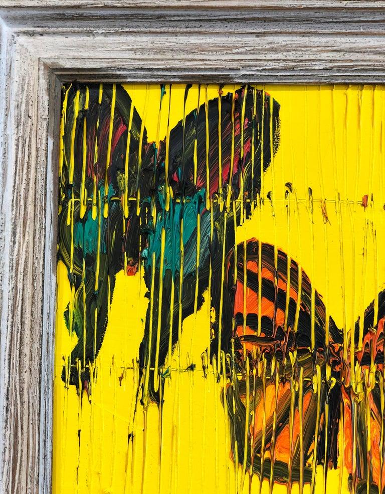 Hunt Slonem butterflies painting 'Viceroy' For Sale 3