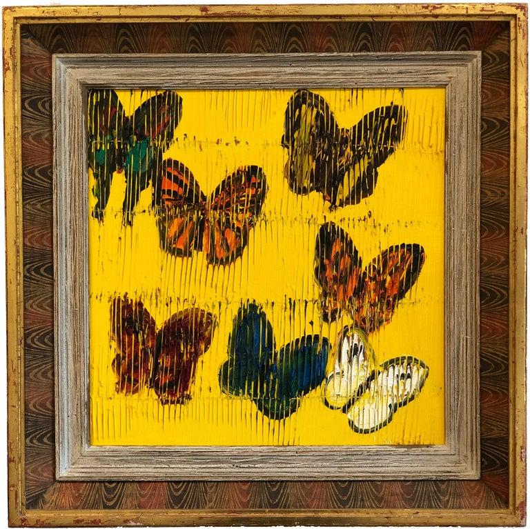 Hunt Slonem butterflies painting 'Viceroy' - Painting by Hunt Slonem