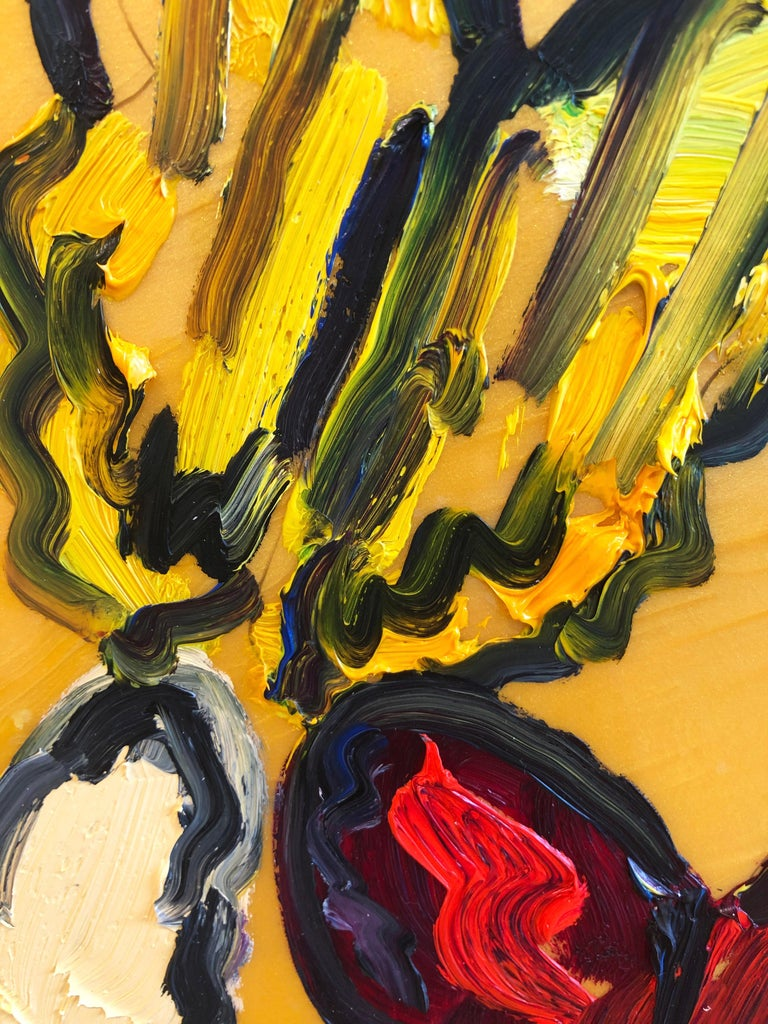 Hunt Slonem butterflies, resin painting 'Tundelella' For Sale 1