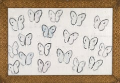 "Hunt Slonem ""Cabbage Butterflies Schaumberg"""