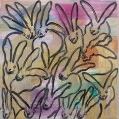 """Hunt Slonem """"Chinensis Curiosity"""" Multicolor Metallic Bunnies"""