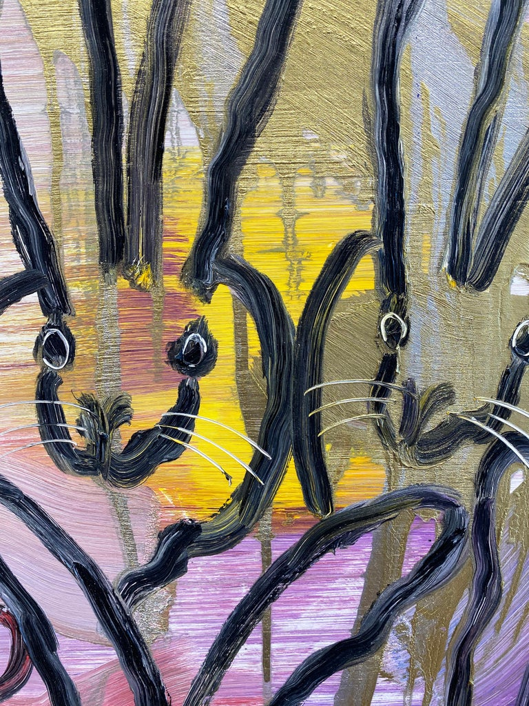 Hunt Slonem colorful bunny painting 'Chinensis Vision' For Sale 1