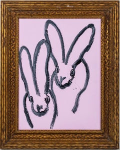 "Hunt Slonem ""Double Bunny"" Pink Bunnies"