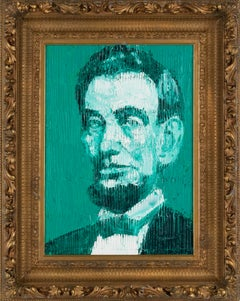 "Hunt Slonem Green ""Abraham Lincoln"""