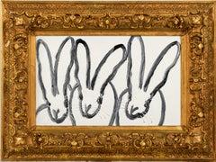 "Hunt Slonem ""Hutch"" Tripple Bunnies"