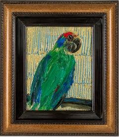 "Hunt Slonem ""Lilac Crown"" Parrot Bird"