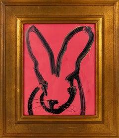 """Hunt Slonem """"Mabel"""" Pink Bunny"""