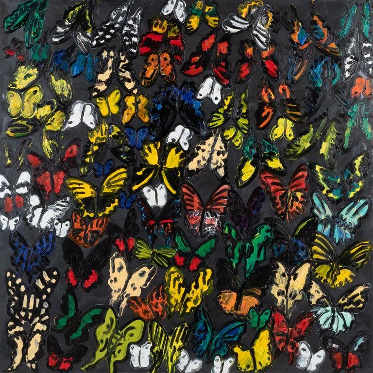 "Hunt Slonem ""Matagalpa"" Butterflies - Painting by Hunt Slonem"