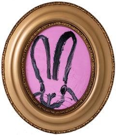 """Hunt Slonem """"Merlin"""" Pink Oval Bunny"""
