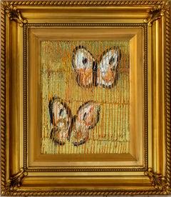 "Hunt Slonem ""Mura"" Gold Metallic Butterflies"