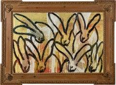 "Hunt Slonem ""New Land"" Metallic Multicolored Bunnies"