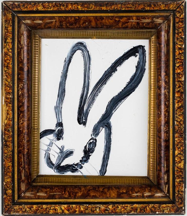 """Hunt Slonem """"Newel"""" Bunny - Painting by Hunt Slonem"""