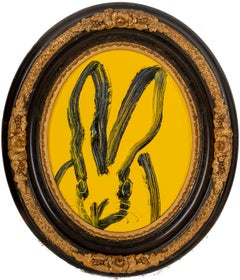 "Hunt Slonem ""Old Yellow"" Yellow Bunny"