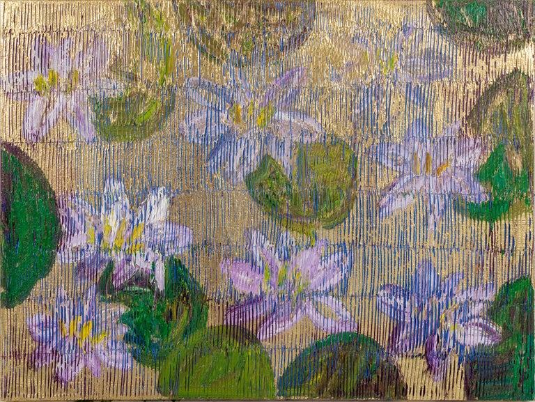 "Hunt Slonem ""Oreville"" Lily Pads - Painting by Hunt Slonem"