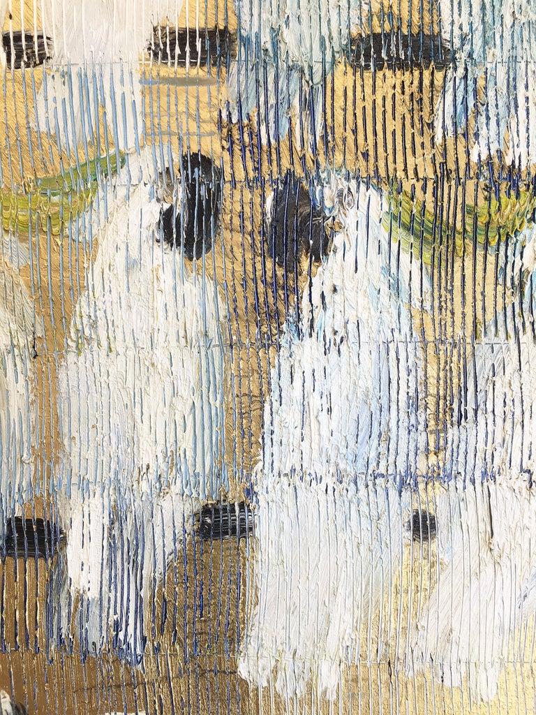 Hunt Slonem parrots painting 'Whispers' For Sale 4