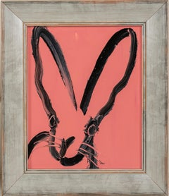 "Hunt Slonem ""Pat"" Pink Bunny"