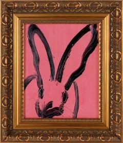 """Hunt Slonem """"Pink Audrey"""" Pink Bunny"""