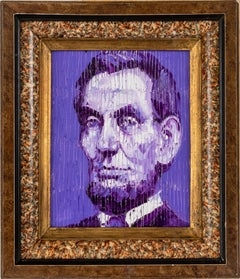 "Hunt Slonem ""President Lincoln"" Purple Abraham Lincoln"