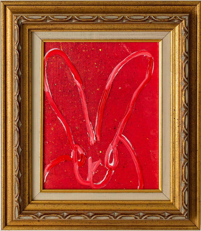 """Hunt Slonem """"Red Rock"""" Red Bunny"""