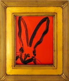 "Hunt Slonem ""Red Rover"" Orange Bunny"