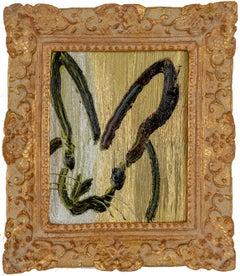 "Hunt Slonem ""Rex"" Gold & Silver Metallic Bunny"