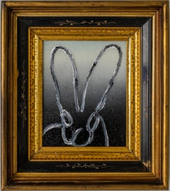 "Hunt Slonem ""Smoke Screen"" Black Ombre Diamond Dust Bunny"