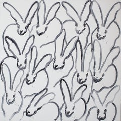 "Hunt Slonem ""Snow White"" Bunnies"